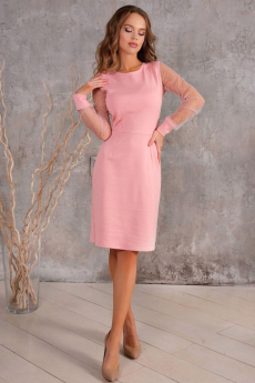 Новинка: розовое котельное платье со стразами Open Style