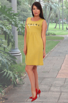 Желтый хлопковый сарафан Вилана